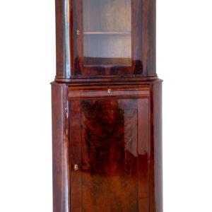 Biedermeier Mahagoni Eckschrank um 1840