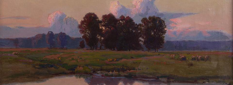 Teodor ZIOMEK (1874-1937) Jugendstil Landschaft